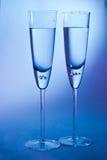 Exponeringsglas för champagne Fotografering för Bildbyråer