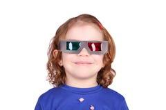 exponeringsglas för flicka 3d little Royaltyfri Foto