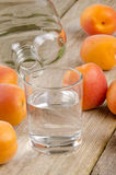 exponeringsglas för frukt för aprikoskonjak nytt Royaltyfri Bild