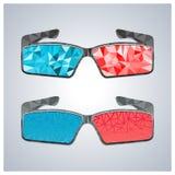 Exponeringsglas för polygon 3D, vektorillustration Royaltyfria Foton