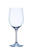 Exponeringsglas för vitt vin, tomt som isoleras på vit bakgrund Royaltyfria Bilder