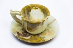 Exponeringsglas från onyx på en vit bakgrund Fotografering för Bildbyråer
