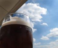 Exponeringsglas för literUK-öl. Arkivbilder