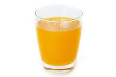 Exponeringsglas för orange fruktsaft Royaltyfri Foto