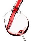 exponeringsglas hälld rött vin Royaltyfria Foton