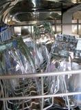 Exponeringsglas i en maskin för att göra disk Arkivbild