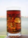 exponeringsglas iced tea Royaltyfri Fotografi