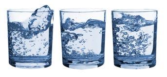 exponeringsglas inställt färgstänkvatten Arkivfoto