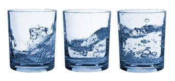 exponeringsglas inställt färgstänkvatten Arkivbild