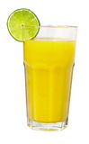 exponeringsglas isolerad fruktsaftlimefruktwhite Royaltyfria Bilder