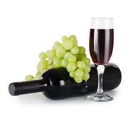 exponeringsglas isolerad röd vit wine Fotografering för Bildbyråer