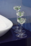 exponeringsglas isolerad vasewhite arkivfoto