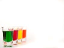Exponeringsglas kulört exponeringsglas Arkivfoto
