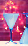 exponeringsglas martini Arkivfoton