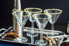 exponeringsglas martini Arkivbild