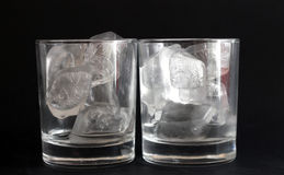 Exponeringsglas med is Arkivfoton