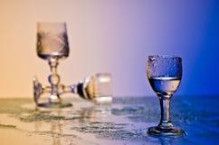 Exponeringsglas med alkohol Royaltyfri Foto
