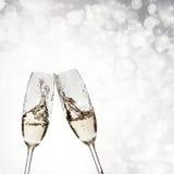 Exponeringsglas med champagne Royaltyfria Foton