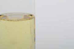 Exponeringsglas med champagnecloseupen Fotografering för Bildbyråer