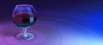 Exponeringsglas med drinken i bakgrund Arkivfoto
