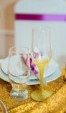 Exponeringsglas med en guld- damning Royaltyfri Fotografi