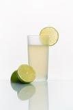 Exponeringsglas med kall lemonad Fotografering för Bildbyråer