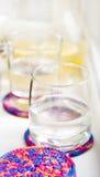 Exponeringsglas med lemonade Royaltyfri Fotografi
