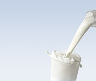 exponeringsglas mjölkar royaltyfri bild