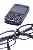 Exponeringsglas och celltelefonen Fotografering för Bildbyråer