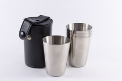 Exponeringsglas och fall för metallloppskott Royaltyfri Foto