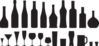 Exponeringsglas och flaska