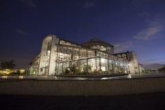 Exponeringsglas- och metallstruktur, Itchimbia, Quito Arkivbild