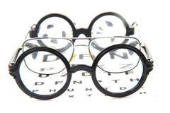 exponeringsglas och optiskt prov Fotografering för Bildbyråer