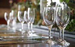 Exponeringsglas på bordlägga Arkivbilder