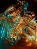 Exponeringsglas på en spegeltabell Fotografering för Bildbyråer