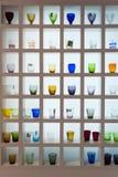 Exponeringsglas på skärm på HOMI, internationell show för hem i Milan, Italien Royaltyfria Foton