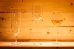 Exponeringsglas på skärm på HOMI, internationell show för hem i Milan, Italien Royaltyfri Foto