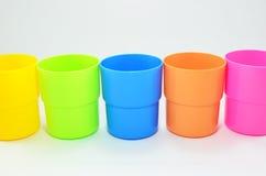 Exponeringsglas plast-, sorterade färger. Royaltyfria Foton
