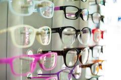 Exponeringsglas shoppar royaltyfri fotografi