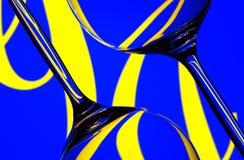 exponeringsglas skev wine Royaltyfri Foto