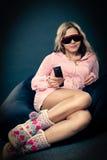 exponeringsglas som 3d slitage kvinnan Fotografering för Bildbyråer