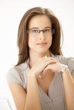 exponeringsglas som slitage kvinnabarn Royaltyfri Bild