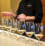 exponeringsglas som smakar wine Royaltyfri Foto
