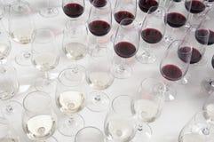 exponeringsglas som winetasting Royaltyfri Foto