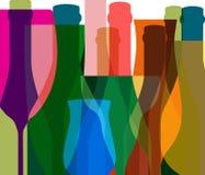 Exponeringsglas till alkohol Arkivbild