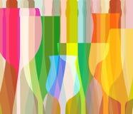 Exponeringsglas till alkohol Royaltyfri Fotografi
