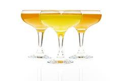 exponeringsglasfruktsaft tre Arkivfoton