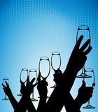 exponeringsglashänder stock illustrationer
