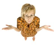 exponeringsglaskvinna royaltyfri bild