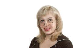 exponeringsglaskvinna Arkivfoto